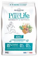 Pro nutrition Pure Life ADULT Begrūdis maistas suaugusioms katėms, taip pat turinčioms jautrų virškinimą. Su antiena ir kalakutiena 8kg
