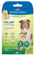 FRANCODEX Repelentinis anktaklis nuo erkių, blusų ir uodų