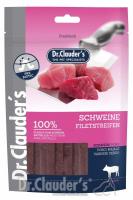 DR. CLAUDER'S vytintos kiaulienos skanėstas juostelėmis šunims
