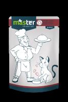 Master Subalansuotas drėgnas maistas katėms su mėsa