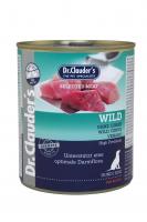 DR. CLAUDER'S drėgnas maistas šunims su žvėriena ir prebiotikais 800g