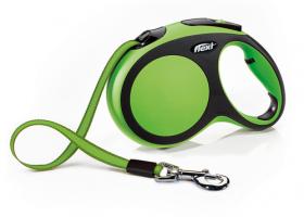 Automatinis pavadėlis Flexi New Comfort, žalios spalvos, L dydis, 5m. Šunims iki 60 kg