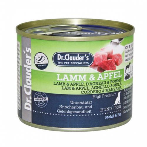 DR. CLAUDER'S subalansuotas drėgnas maistas šunims su ėriena ir obuoliais kaulams ir sąnariams 400g