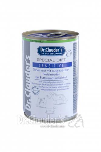 DR. CLAUDER'SSpecial Diet Sensitive specializuotas drėgnas maistas jautriems ir alergiškiems šunims 400g