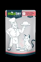 Master Subalansuotas drėgnas maistas katėms su veršiena