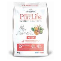Pro nutrition Pure Life KITTEN Begrūdis maistas jauniems kačiukams (iki 12 mėn.) ir maitinančioms katėms. Su antiena ir sardinių mėsa 8kg
