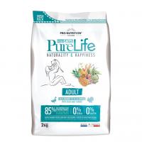 Pro nutrition Pure Life ADULT Begrūdis maistas suaugusioms katėms, taip pat turinčioms jautrų virškinimą. Su antiena ir kalakutiena 2kg
