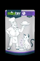 Master Subalansuotas drėgnas maistas katėms su triušiena