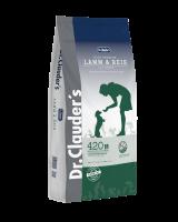 DR. CLAUDER'S SENSITIVE sausas maistas suaugusiems šunims su ėriena ir ryžiais 15kg